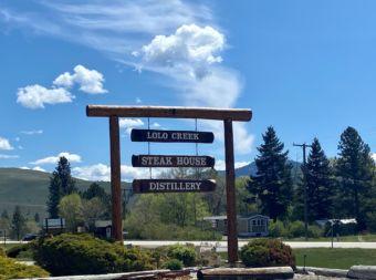 Lolo Creek Entrance Sign